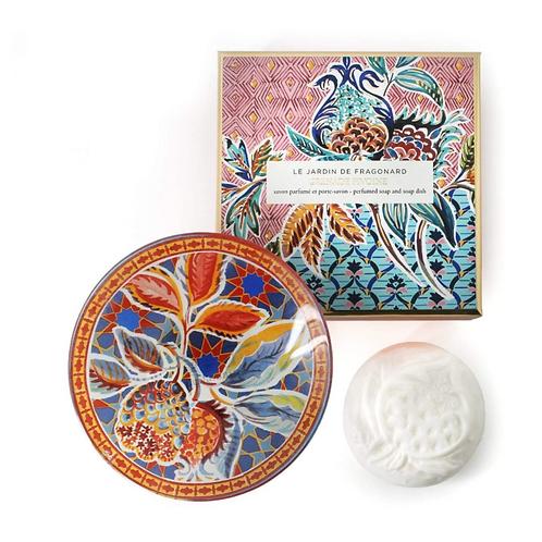 Fragonard Grenade Pivoine Soap + Dish