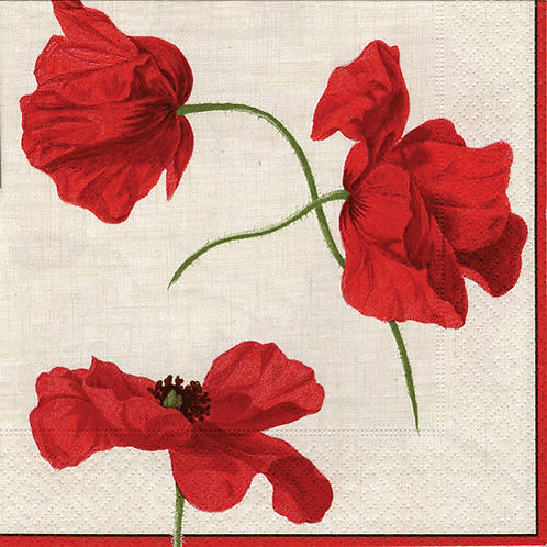 Dancing Poppies Cocktail Napkin