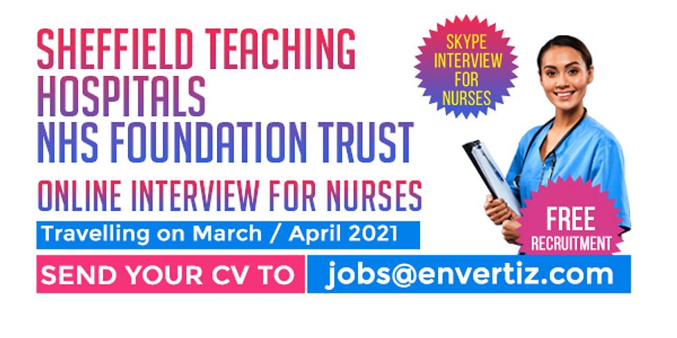 Skype Interview for Nurses Sheffield Teaching Hospitals NHS Foundation Trust