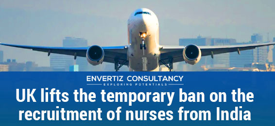 UK lifts the temporary ban on the recruitment of nurses from India