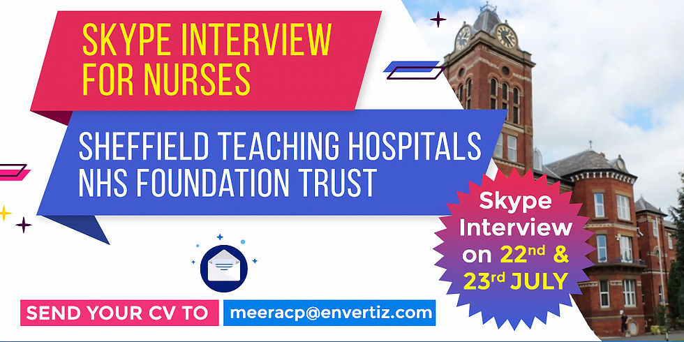Direct Skype Interview with Sheffield Teaching Hospitals NHS Foundation Trust