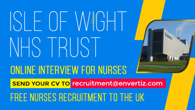 Here's your chance to work with one of the beautiful places in the UK - Isle of Wight NHS Trust