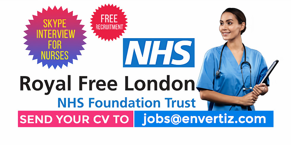 We are inviting applications from Nurses (All Departments) to the UK  Hiring registered nurses for Royal Free London NHS