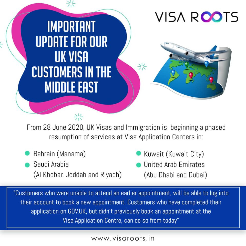 UK Visa Application Centers Service to resume soon…