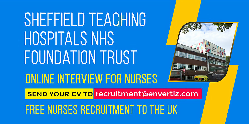 online interview for nurses Sheffield Teaching Hospitals NHS Foundation Trust
