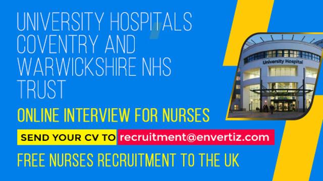 Hello Nurses, University Hospital Coventry & Warwickshire is hiring !