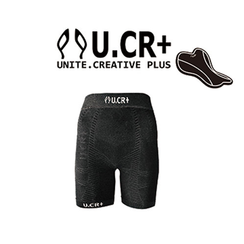 U.CR+ KIDS compression pants bamboo  charcoal  BK 5分褲 兒童機能褲 竹炭有墊