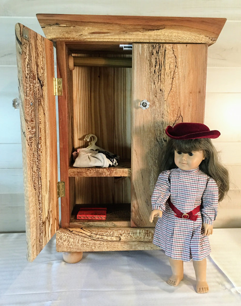 artisan made childs doll armoire doll bed created with reclaimed spaulted sycamore wood fits american girl dolls 18 dolls - American Girl Doll Armoire