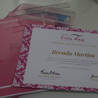 certificado e material de aula.JPG