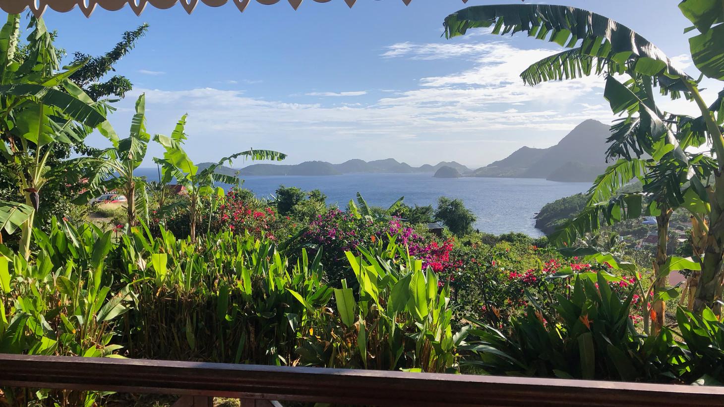 Vue de la terrasse Coco à l'Eau - Résidence Coco d'Iles -  Les Saintes