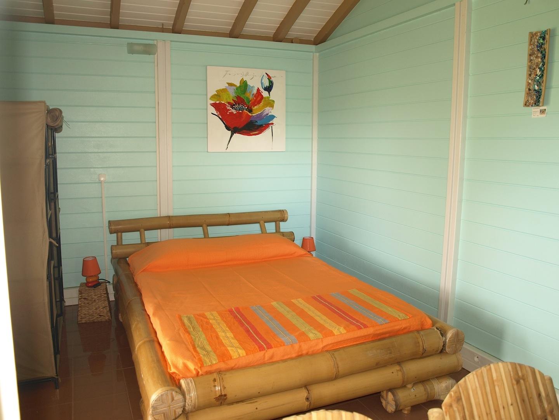 La chambre -  Ti Bambou - Résidence Coco d'Iles - Les Saintes