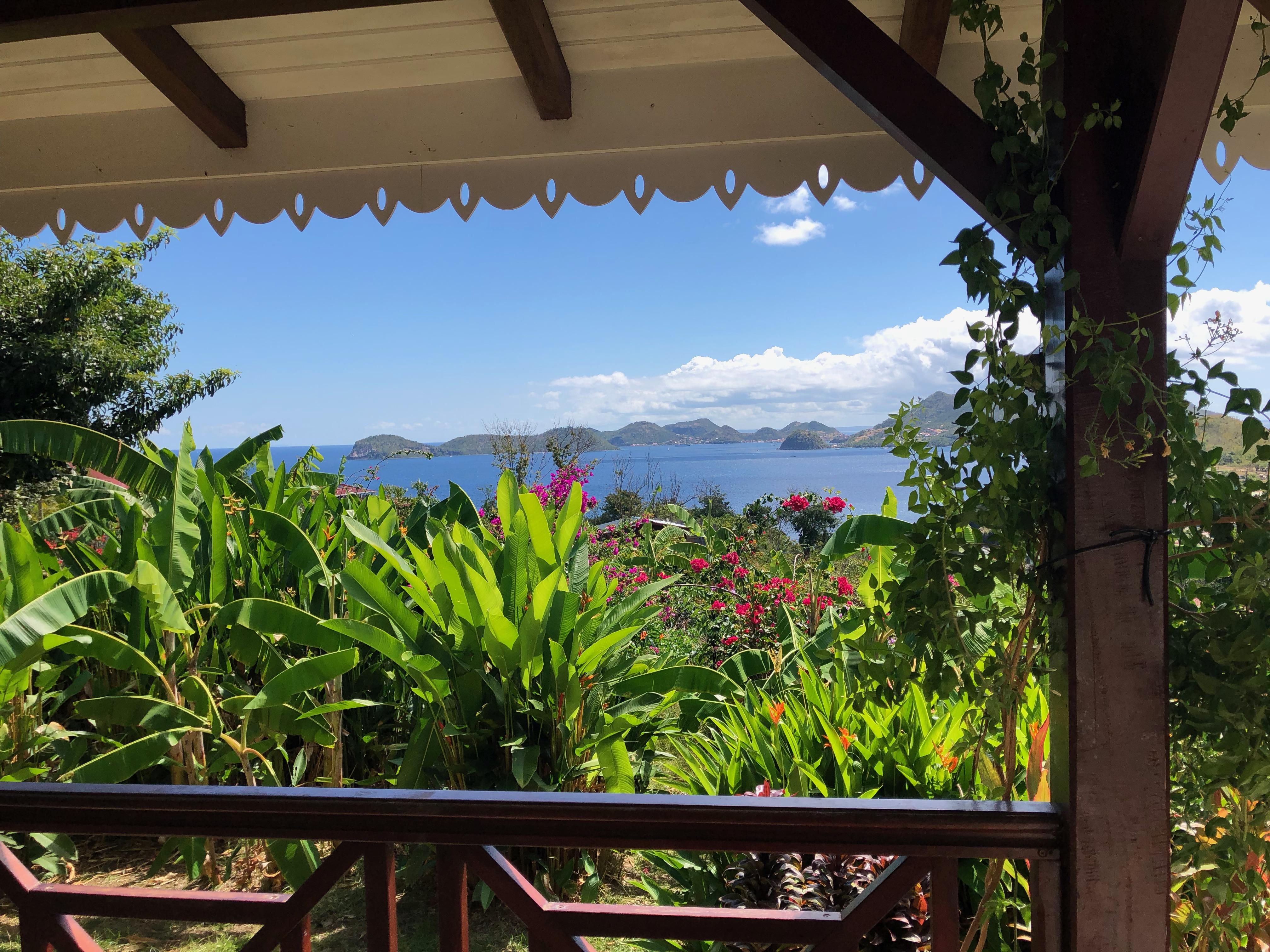 Vue de la Villa Coco a l'Eau - - Résidence Coco d'Iles -  Les Saintes