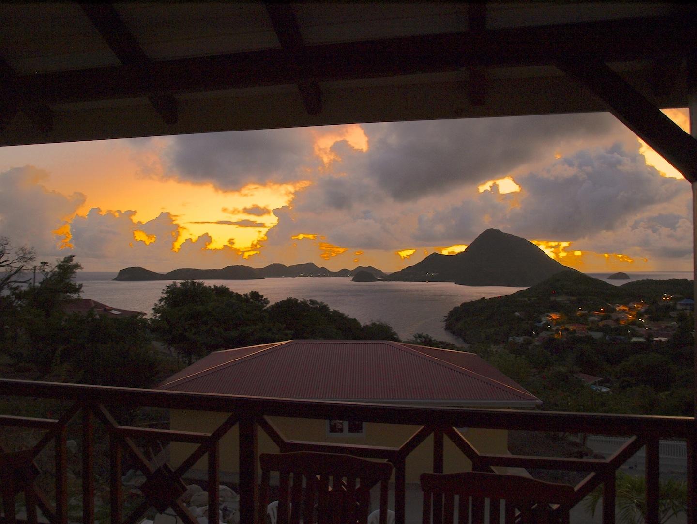 Couché de soleil - Villa Coco Fesse - Résidence Coco d'Iles - Les Saintes