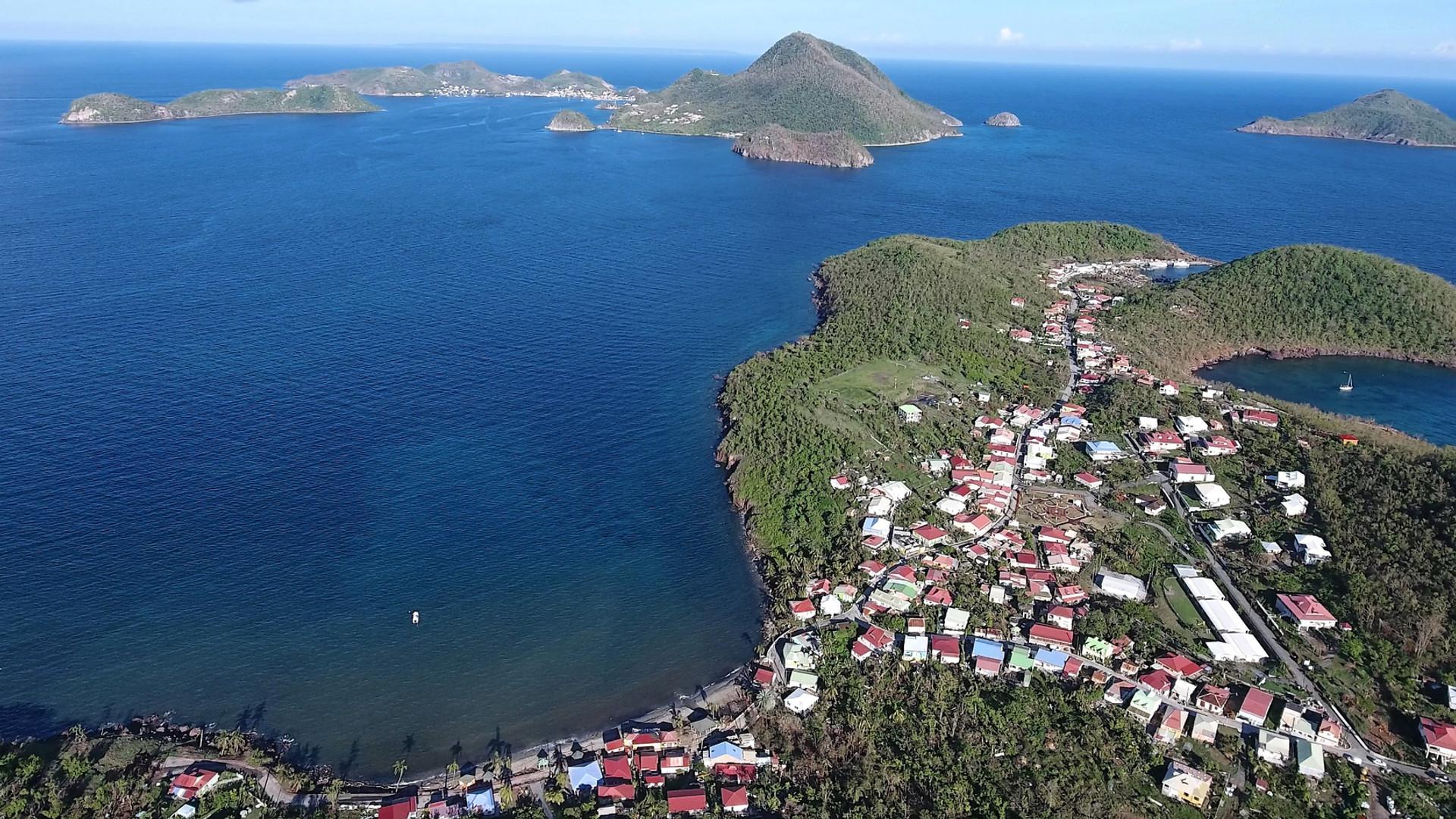 Vue aérienne Les Saintes - Résidence Coco d'Iles -  Les Saintes