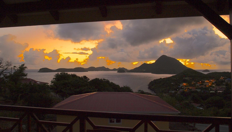 Couché de soleil Les Saintes - Résidence Coco d'Iles -  Les Saintes