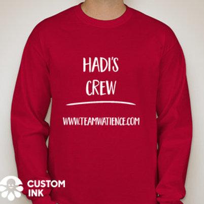 Red Hadi's Crew Long Sleeve Shirt