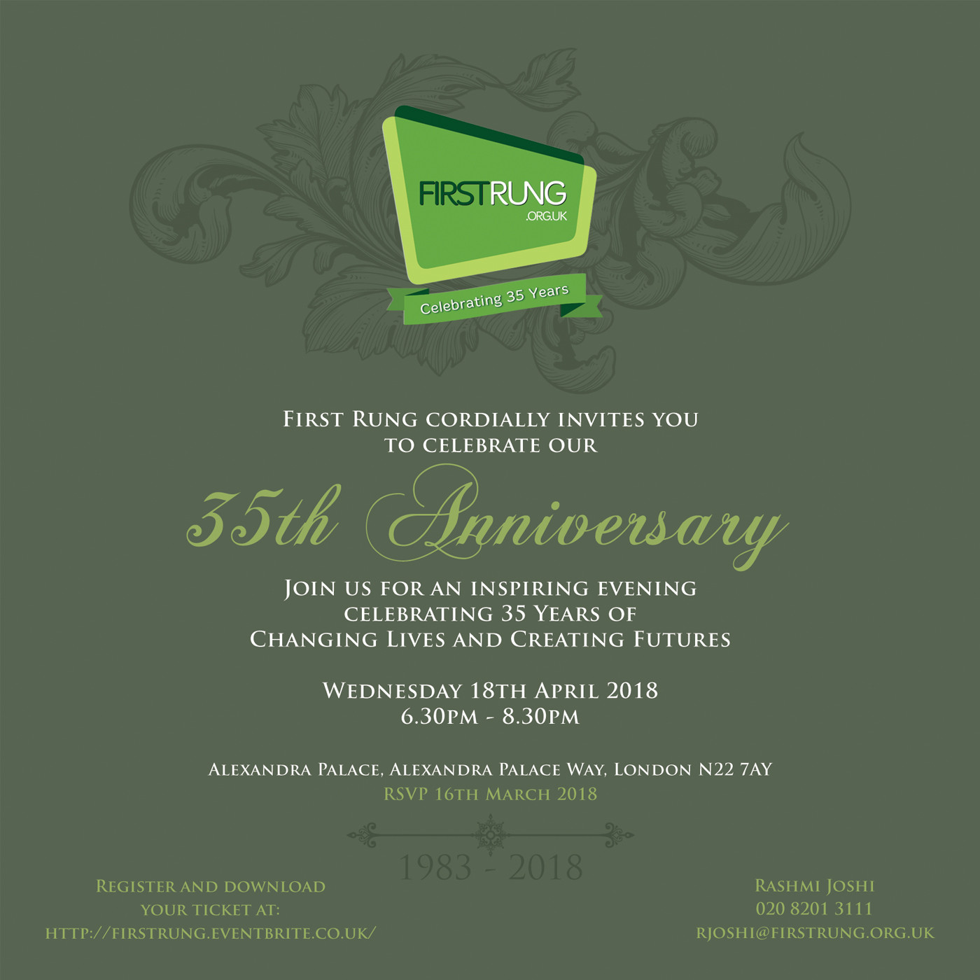 First Rung 35th Anniversay Invitation