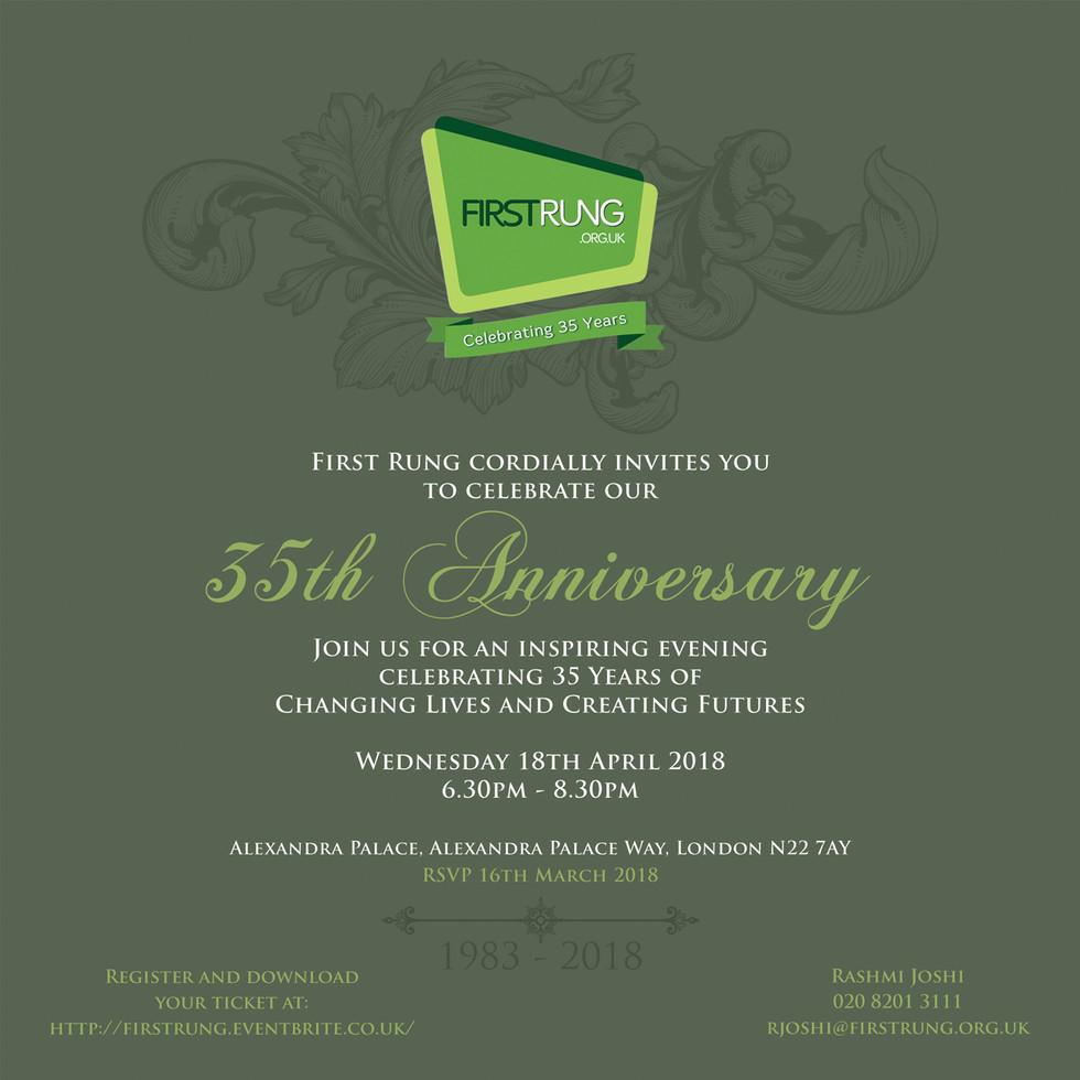 First Rung 35th Anniversay Invitation