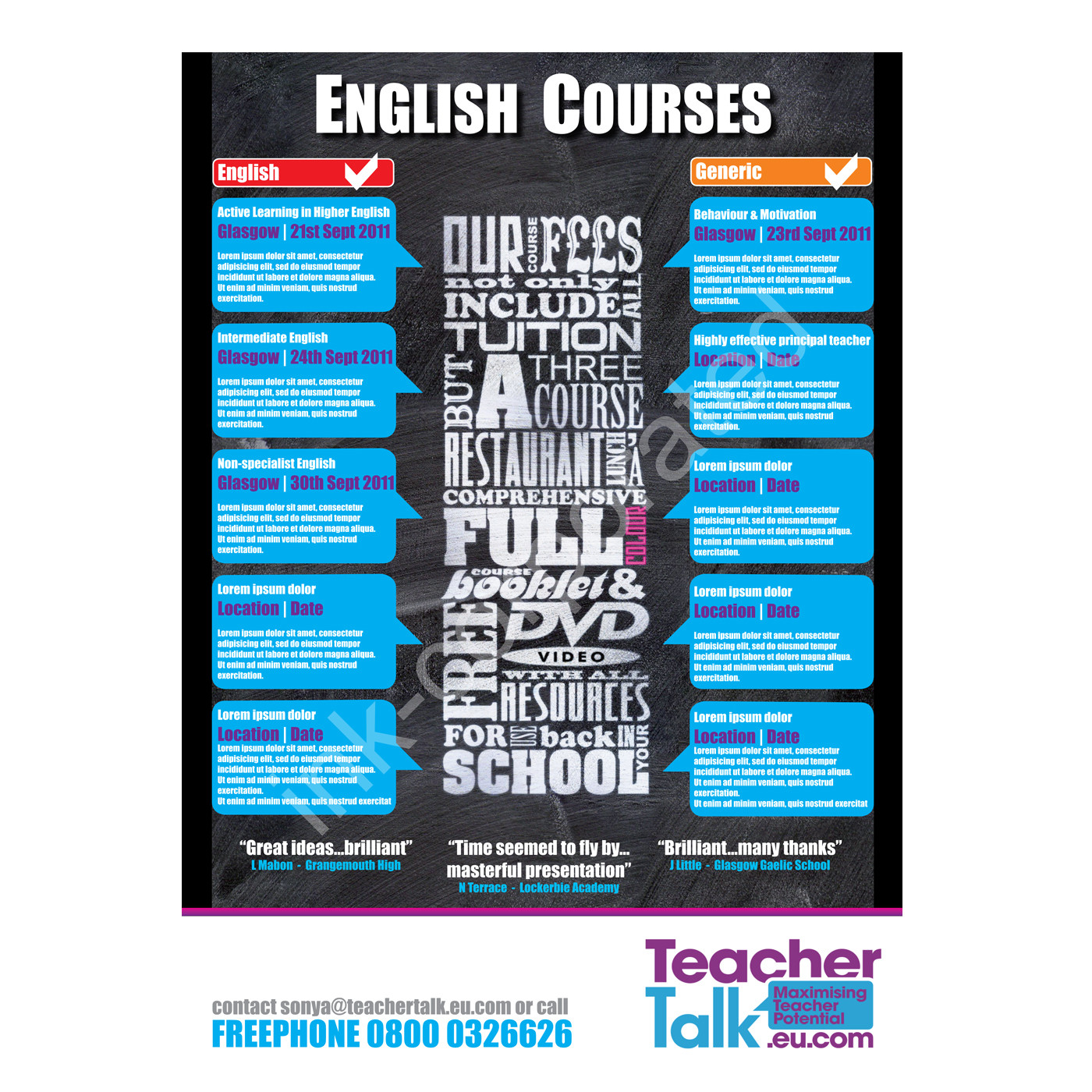 Teacher Talk Poster