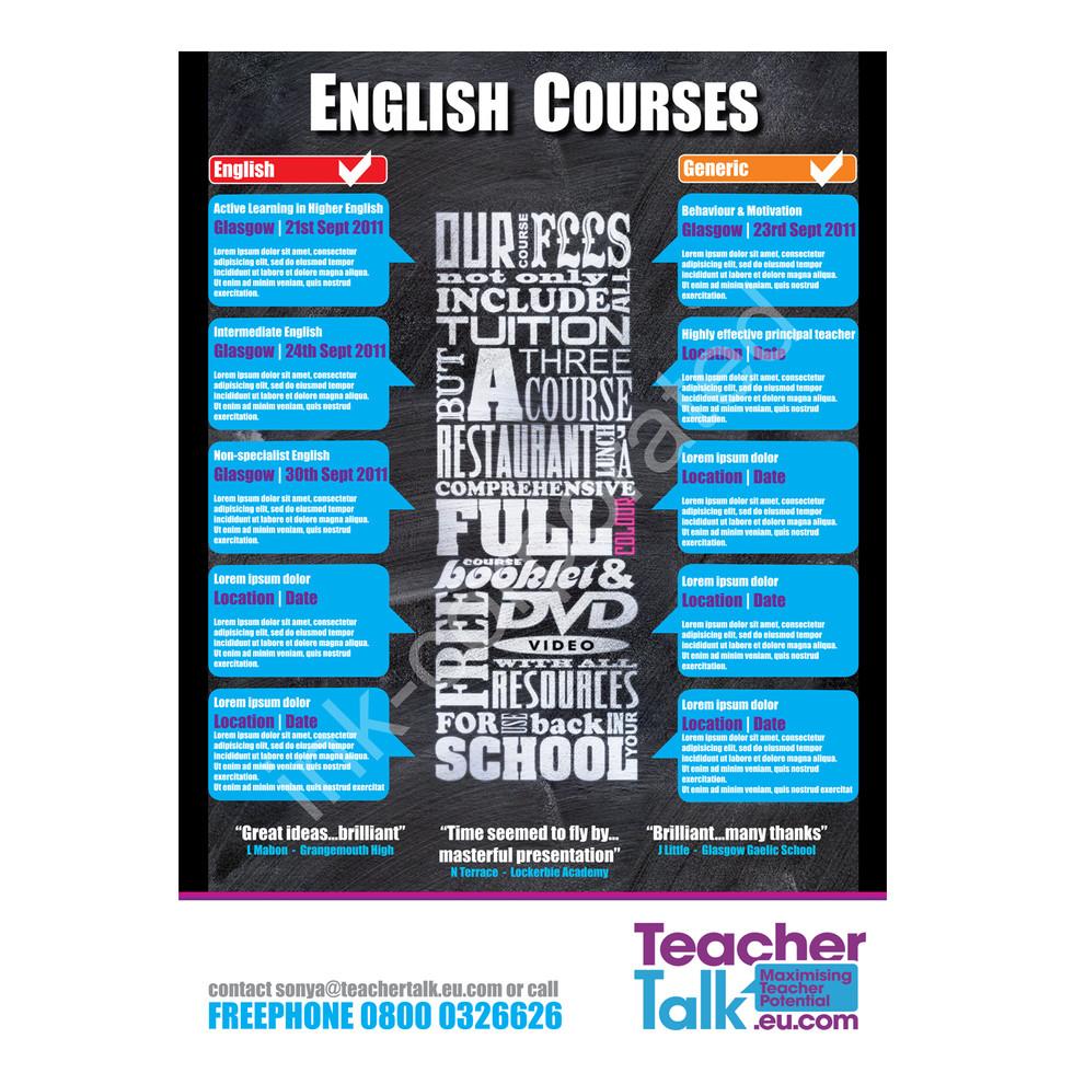 Teacher Talk Poster