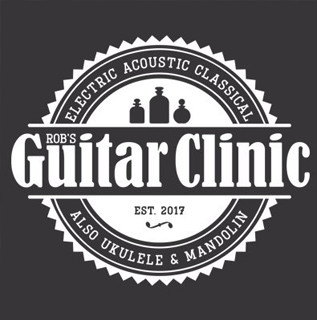 Rob's Guitar Clinic logo design