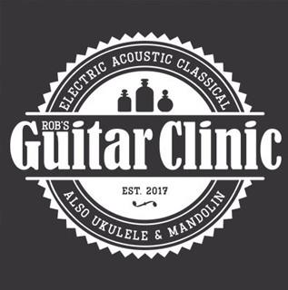 Rob's Guitar Clinic logo design