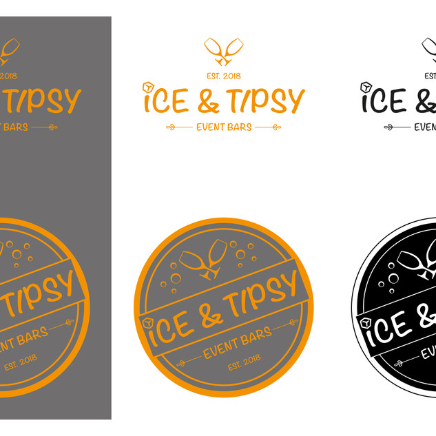 Ice & Tipsy logo design