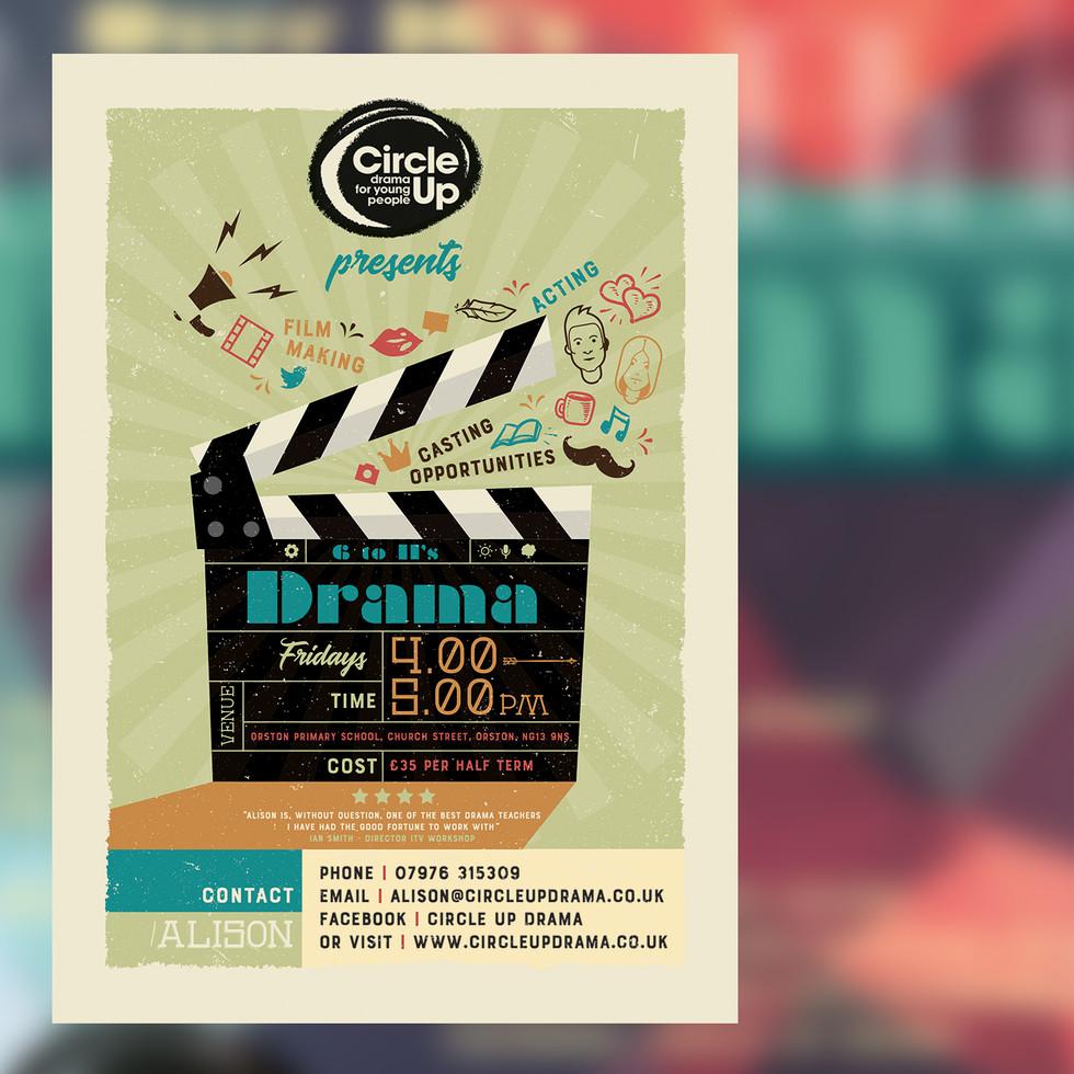 Circle Up drama club leaflet