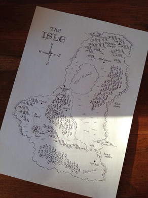 Original sketch of the Isle map