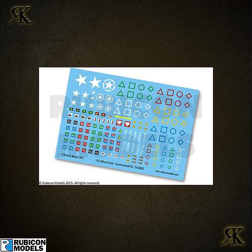 130018 - Commonwealth Generic Set 2 Decal Sheet