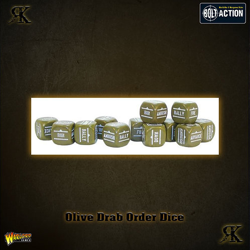 Warlord Order Dice - Olive