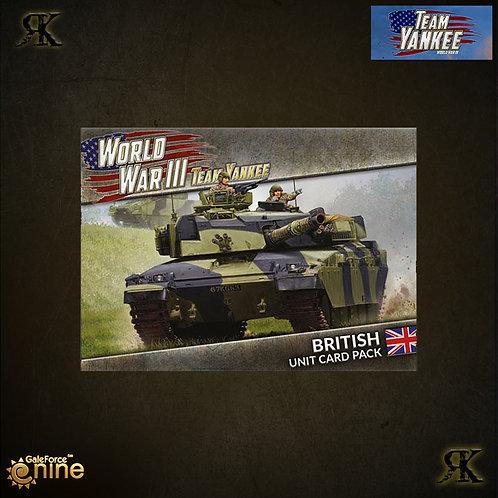 World War III: British Unit Card Pack