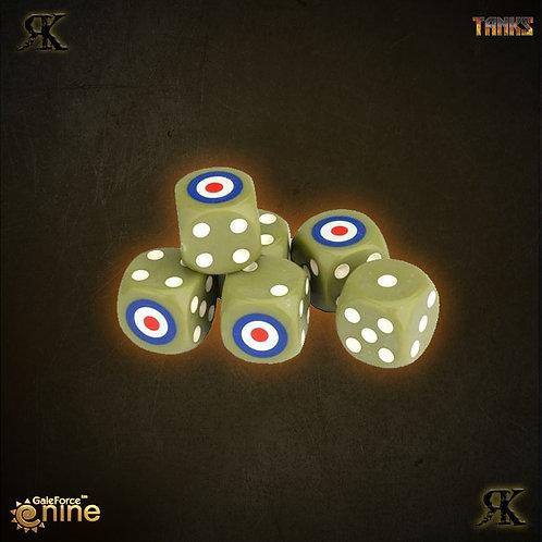 Tanks British Dice