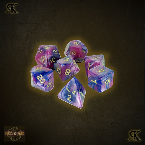 Acid Pink Poly sided Dice