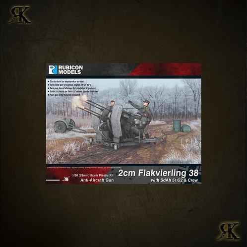 280073 - 2cm Flakvierling 38 with SdAh 51/52 Trailer & Crew