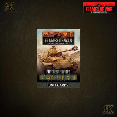 Fortress Europe: German Unit Cards