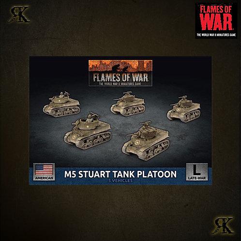 M5 Stuart Light Tank Platoon