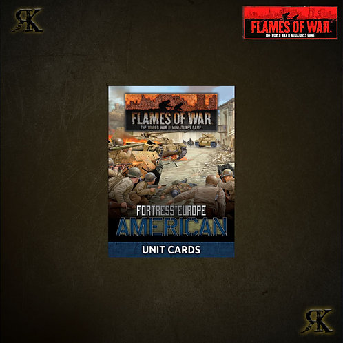 Fortress Europe: American Unit Cards