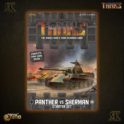 Tanks Panther Vs Sherman Starter Set