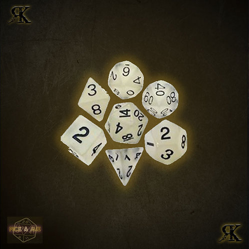 Basic White Poly Sided Dice