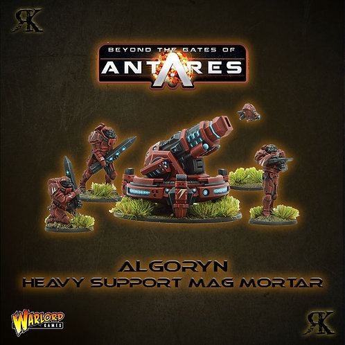 Algoryn AI Heavy Support team with mag mortar