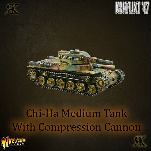 Chi-Ha medium tank with compression turret