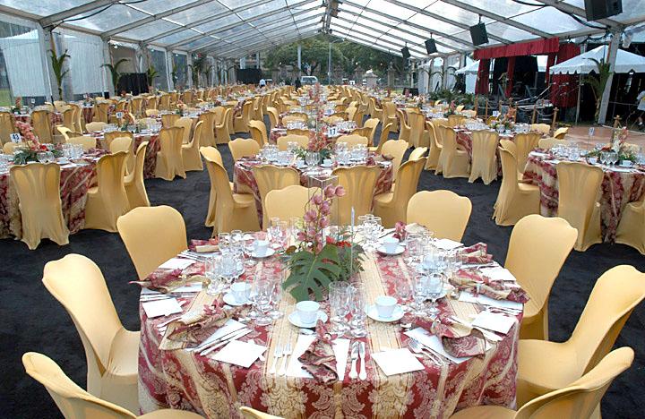 テーブル装飾、席次