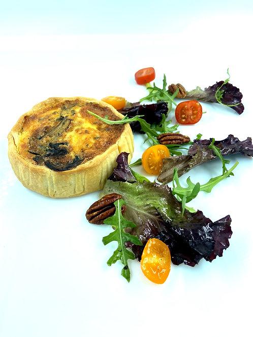 Quiche Poulet, champignons de Paris, estragon