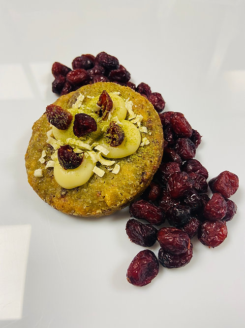 cookies Thé Matcha, chocolat blanc, cranberry