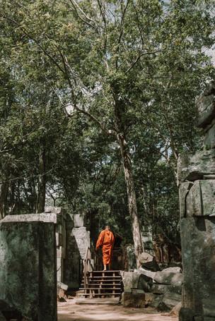 monk inKoh Ker, Preah Vihear, Cambodia