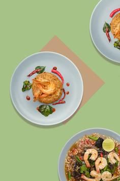 Shrimp dishes - food photography - Phnom Penh