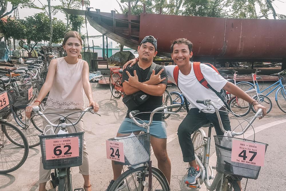 Bike renting at the pier - Bang Krachao - Bangkok green lung