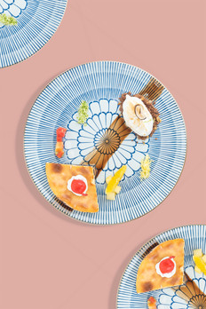 Fruits plates - Shrimp dishes - food photography - Phnom Penh