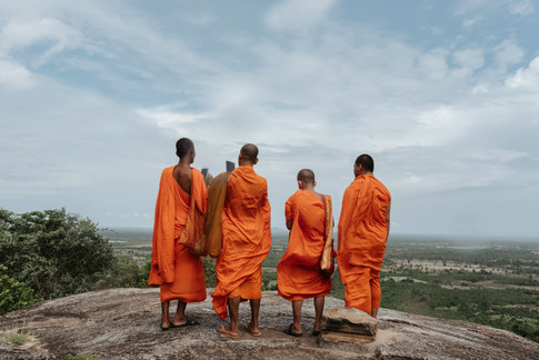 Buddhist monks with phone